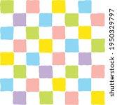 Colorful Pastel Squares Grid...