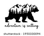 bear silhouette with landscape... | Shutterstock .eps vector #1950330094