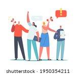 characters holding digital... | Shutterstock .eps vector #1950354211