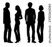 vector silhouettes of  man and... | Shutterstock .eps vector #1950364084