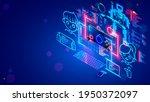 kids  boy and girl learning...   Shutterstock .eps vector #1950372097