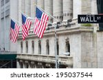 Wall Street Sign In New York...