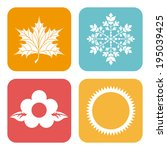 seasons design over white... | Shutterstock .eps vector #195039425
