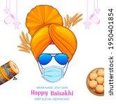 illustration of happy vaisakhi... | Shutterstock .eps vector #1950401854