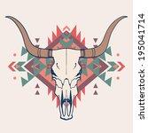 vector illustration of bull... | Shutterstock .eps vector #195041714