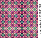 Star Squared / A digital fractal image with a tiled star design in green, pink, violet and yellow. - stock photo