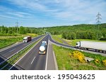 a country landscape with a... | Shutterstock . vector #195043625
