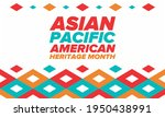 asian pacific american heritage ... | Shutterstock .eps vector #1950438991