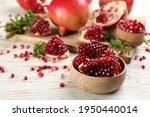 Delicious Ripe Pomegranate...