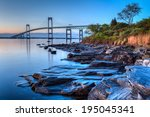 newport bridge sunrise   this... | Shutterstock . vector #195045341