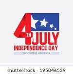 usa design over white... | Shutterstock .eps vector #195046529