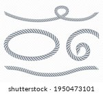 silver ropes  frame of twisted... | Shutterstock .eps vector #1950473101