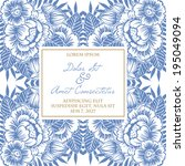wedding invitation cards with... | Shutterstock .eps vector #195049094