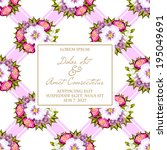 wedding invitation cards with... | Shutterstock .eps vector #195049691