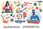 set of illustrations related to ... | Shutterstock .eps vector #1950500731