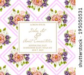 wedding invitation cards with... | Shutterstock .eps vector #195050531