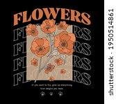 autumn flower illustration with ... | Shutterstock .eps vector #1950514861