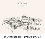 parthenon temple and the... | Shutterstock . vector #1950519724