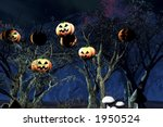 haloweenparty in the woods | Shutterstock . vector #1950524