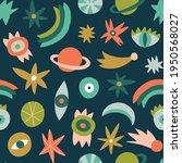 stylish vector cosmos pattern...   Shutterstock .eps vector #1950568027