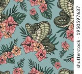 tropical colorful vintage... | Shutterstock .eps vector #1950597637