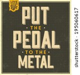 vintage template   retro design ... | Shutterstock .eps vector #195060617
