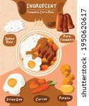 food menu hand rice cooking... | Shutterstock .eps vector #1950620617