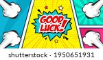 good luck text isolated on...   Shutterstock .eps vector #1950651931