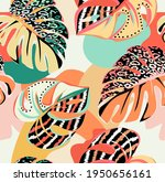 tropical pattern with...   Shutterstock .eps vector #1950656161