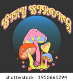 stay strong slogan print with... | Shutterstock .eps vector #1950661294