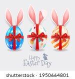 happy easter day easter eggs... | Shutterstock .eps vector #1950664801