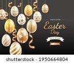 happy easter day easter eggs... | Shutterstock .eps vector #1950664804