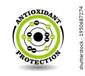 circle vector icon antioxidant... | Shutterstock .eps vector #1950687274