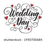 wedding day brush pen hand... | Shutterstock .eps vector #1950700684
