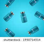 vaccine glass vials on a table. ... | Shutterstock .eps vector #1950714514