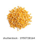Heap Of Raw Popcorn Grains...