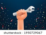 labor day greeting card vector...   Shutterstock .eps vector #1950729067