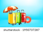 vacation concept with color...   Shutterstock .eps vector #1950737287