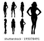 woman silhouette | Shutterstock .eps vector #195078491