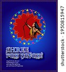 shree ram navami celebration... | Shutterstock .eps vector #1950815947