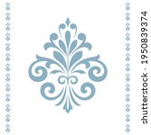 damask graphic ornament. floral ... | Shutterstock .eps vector #1950839374