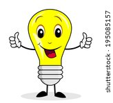 merry bulb shows a sign...   Shutterstock .eps vector #195085157