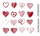 collection of hand drawn sketch ...   Shutterstock . vector #195085967