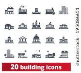 building icons set  vector... | Shutterstock .eps vector #195086651