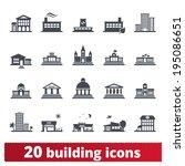 building icons set  vector... | Shutterstock .eps vector #195086651