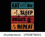 eat sleep drum repeat t shirt...   Shutterstock .eps vector #1950878041