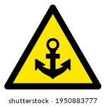 Raster Anchor Flat Warning Sign....