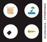set of pirate icons flat style... | Shutterstock .eps vector #1950894604
