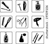 personal hygiene objects black... | Shutterstock .eps vector #19509106
