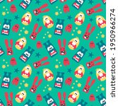seamless pattern with cute... | Shutterstock .eps vector #1950966274